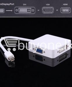 mini 3 in1 display port to hdmi vga dvi converter adapter for apple macbook imac hdmi digital cables computer store special best offer buy one lk sri lanka 65805 247x296 - Mini 3 in1 Display Port to HDMI VGA DVI Converter Adapter for Apple MacBook iMac HDMI Digital Cables