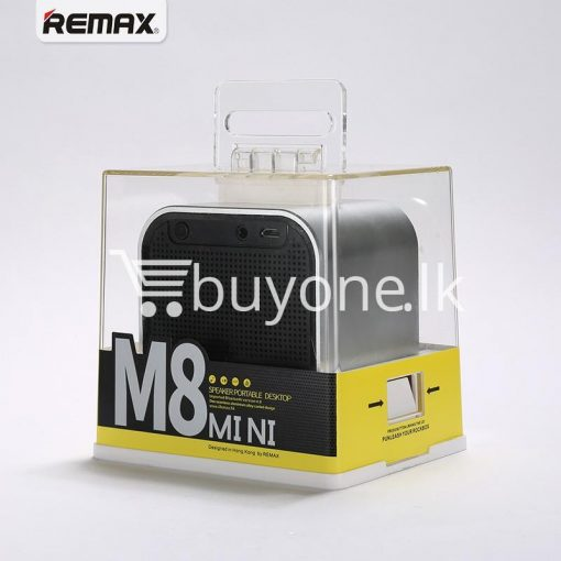 remax m8 mini desktop bluetooth 4.0 speaker deep bass aluminum mobile phone accessories special best offer buy one lk sri lanka 60113 510x510 - Remax M8 Mini Desktop Bluetooth 4.0 Speaker Deep Bass Aluminum