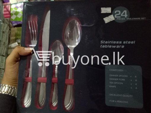 24 pieces tableware set stainless steel tableware home and kitchen special best offer buy one lk sri lanka 99648 510x383 - 24 Pieces Tableware Set - Stainless Steel Tableware