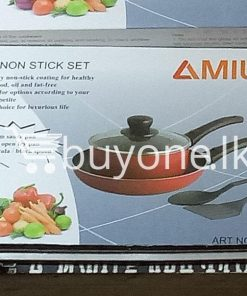 amilex 5pcs non stick set for healthy and light food home and kitchen special best offer buy one lk sri lanka 99504 247x296 - Amilex 5Pcs Non Stick Set For Healthy and Light Food