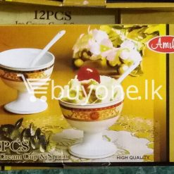 amilex high quality 12pcs set ice cream cup spoon home and kitchen special best offer buy one lk sri lanka 99462 247x247 - Amilex High Quality 12pcs Set Ice Cream Cup & Spoon