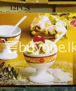 amilex high quality 12pcs set ice cream cup spoon home and kitchen special best offer buy one lk sri lanka 99462 247x296 - Amilex High Quality 12pcs Set Ice Cream Cup & Spoon