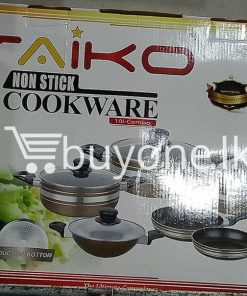 taiko non stick cookware 10pcs full set induction bottom healthy cooking home and kitchen special best offer buy one lk sri lanka 99441 247x296 - Taiko Non Stick Cookware 10pcs Full Set Induction Bottom Healthy Cooking