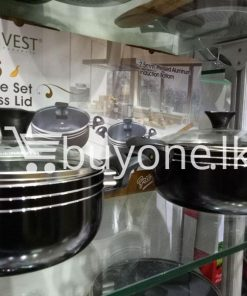 the harvest premium homeware 7pcs cookware set with glass lid home and kitchen special best offer buy one lk sri lanka 99573 247x296 - The Harvest Premium Homeware-7pcs Cookware Set with Glass Lid