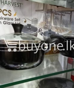 the harvest premium homeware 7pcs cookware set with glass lid home and kitchen special best offer buy one lk sri lanka 99574 247x296 - The Harvest Premium Homeware-7pcs Cookware Set with Glass Lid