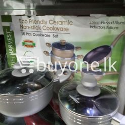 the harvest premium homeware eco friendly ceramic non stick 10pc cookware set home and kitchen special best offer buy one lk sri lanka 99567 247x247 - The Harvest Premium Homeware-Eco Friendly Ceramic Non-Stick 10pc Cookware Set