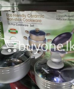 the harvest premium homeware eco friendly ceramic non stick 10pc cookware set home and kitchen special best offer buy one lk sri lanka 99567 247x296 - The Harvest Premium Homeware-Eco Friendly Ceramic Non-Stick 10pc Cookware Set