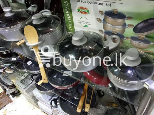 the harvest premium homeware eco friendly ceramic non stick 10pc cookware set home and kitchen special best offer buy one lk sri lanka 99569 510x383 - The Harvest Premium Homeware-Eco Friendly Ceramic Non-Stick 10pc Cookware Set