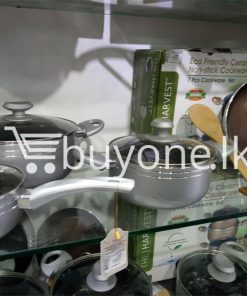 the harvest premium homeware eco friendly ceramic non stick 7pcs cookware set home and kitchen special best offer buy one lk sri lanka 99600 247x296 - The Harvest Premium Homeware-Eco Friendly Ceramic Non-Stick 7pcs Cookware Set