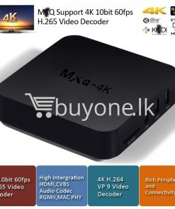 MXQ 4K Smart TV Box KODI 15 2 Preinstalled Android 5 1 1G/8G H 264/H 265  10Bit WIFI LAN HDMI DLNA AirPlay Miracast