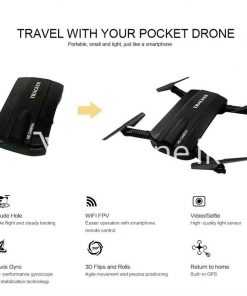 mini selfie tracker foldable pocket rc quadcopter drone altitude hold fpv with wifi camera mobile store special best offer buy one lk sri lanka 30753 247x296 - Mini Selfie Tracker Foldable Pocket RC Quadcopter Drone Altitude Hold FPV with WIFI Camera