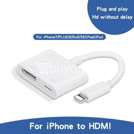 original hdmi hdtv tv lightning digital av adapter cable for iphone high resolution 1080p mobile phone accessories special best offer buy one lk sri lanka 46580 510x510 - Original HDMI/ HDTV TV Lightning Digital  AV Adapter Cable For iPhone High Resolution 1080P